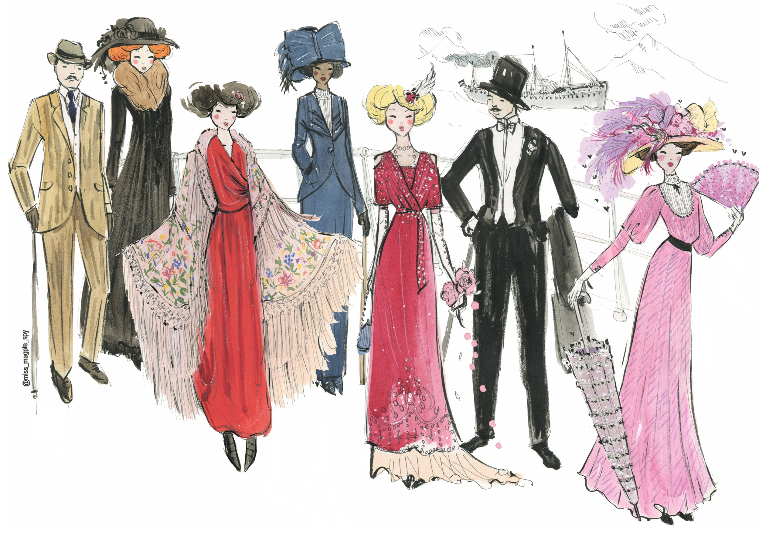 miss magpie illustration 1900