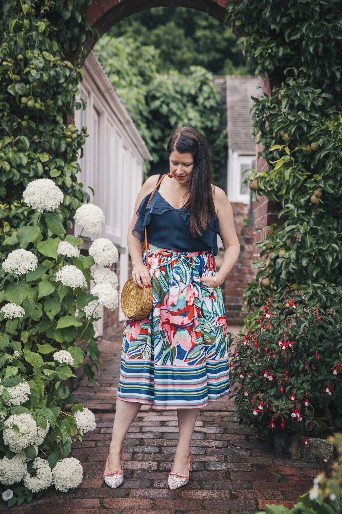 floral-midi-skirt