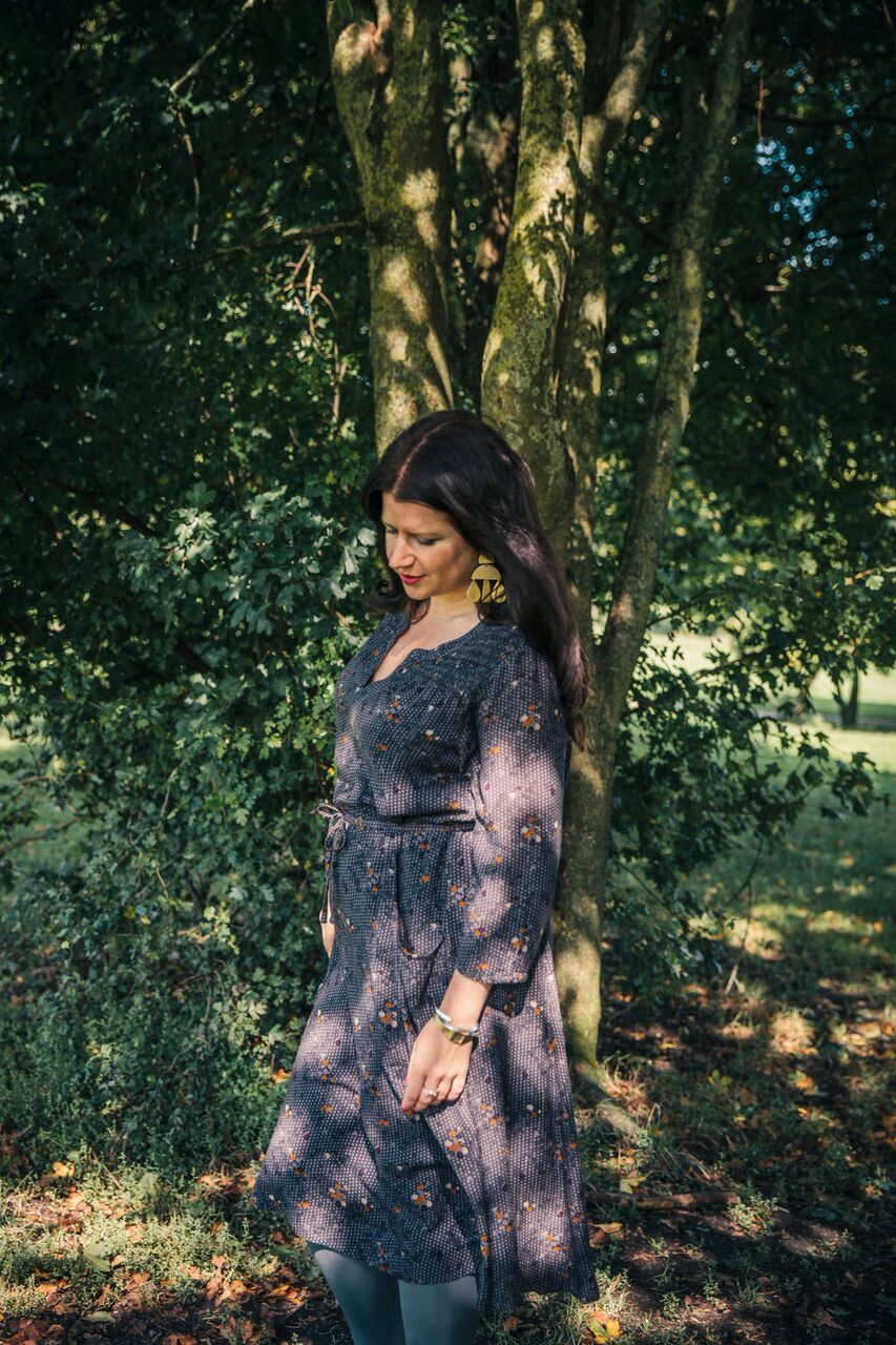 Shortly after this photo was taken, I hid behind the tree and changed into my next outfit. Needs must!.