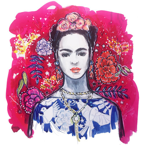 If you're interested in owning a copy of this Frida Kahlo art print then do head to my online  shop