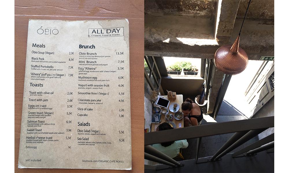 Cafe Obio in Porto