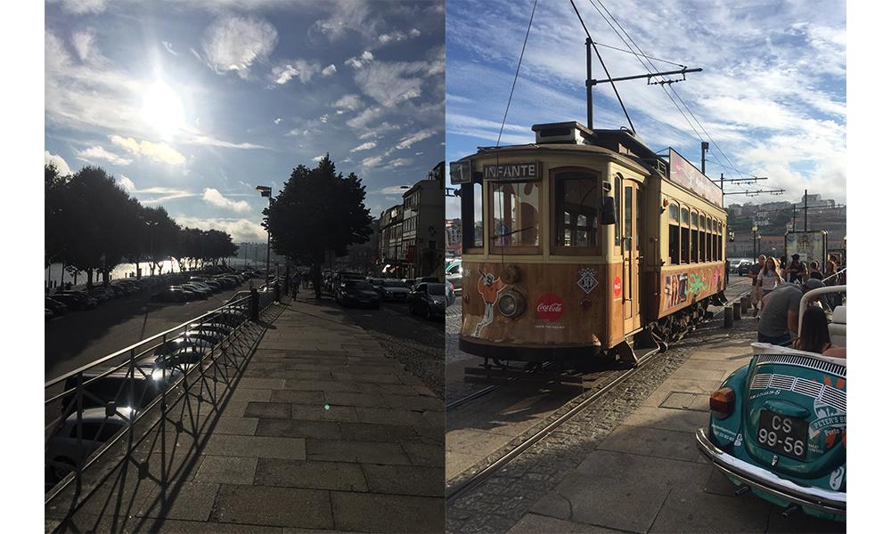 Walk to the beach or grab a tram....