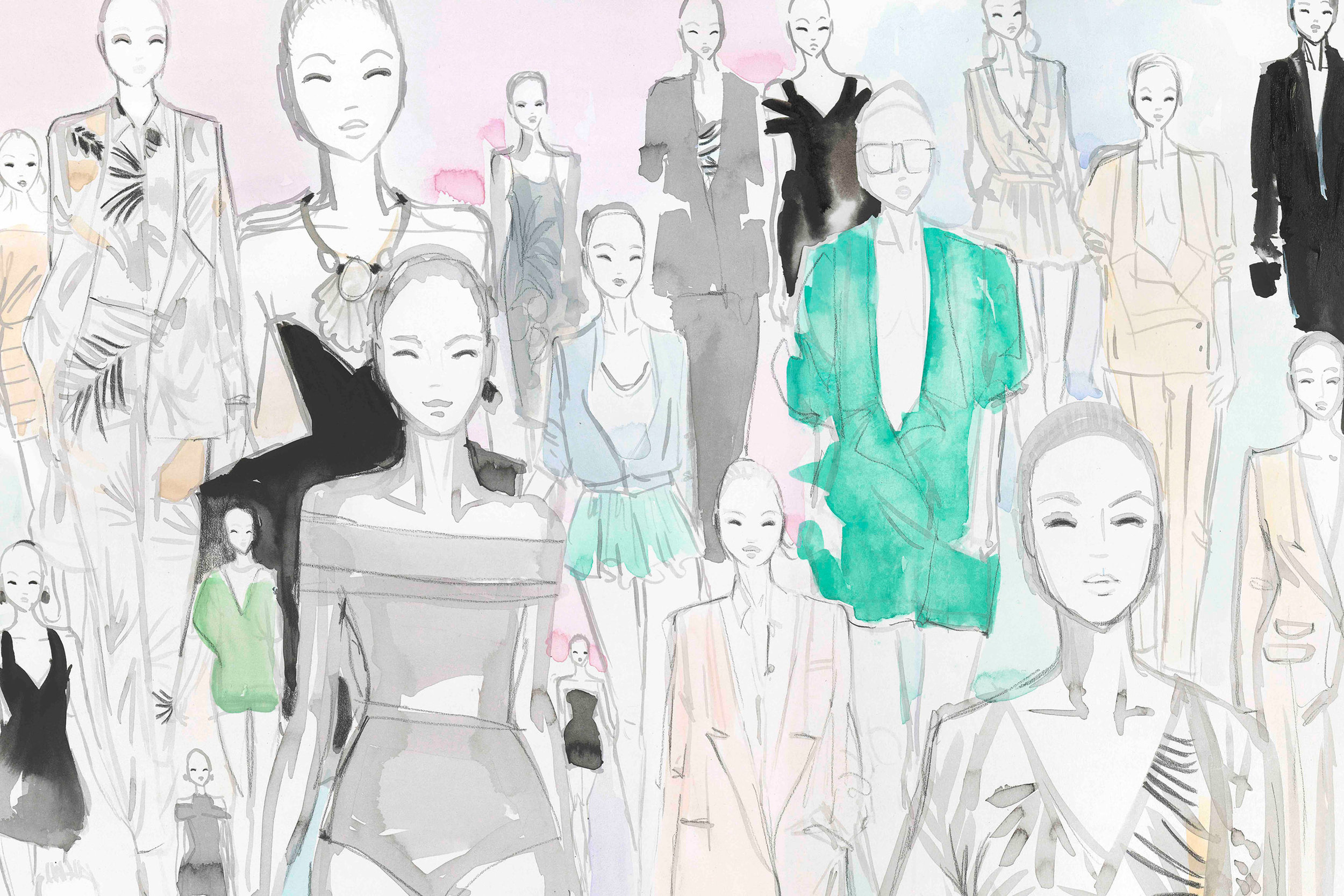 Section of Stella McCartney SS09 catwalk painting