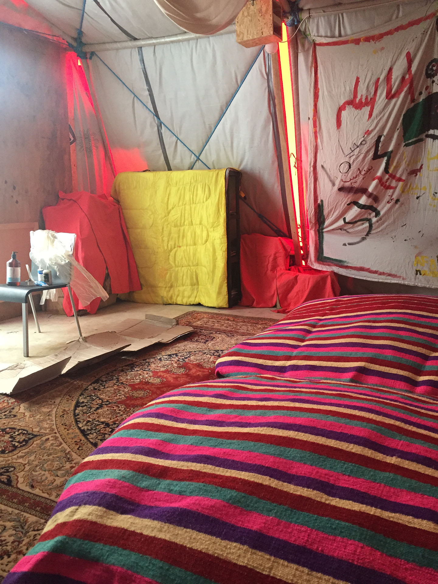 """Photo taken in """"The Women and Children's Centre"""" in """"The Jungle"""" Calais when volunteering for Help Refugees 2016"""