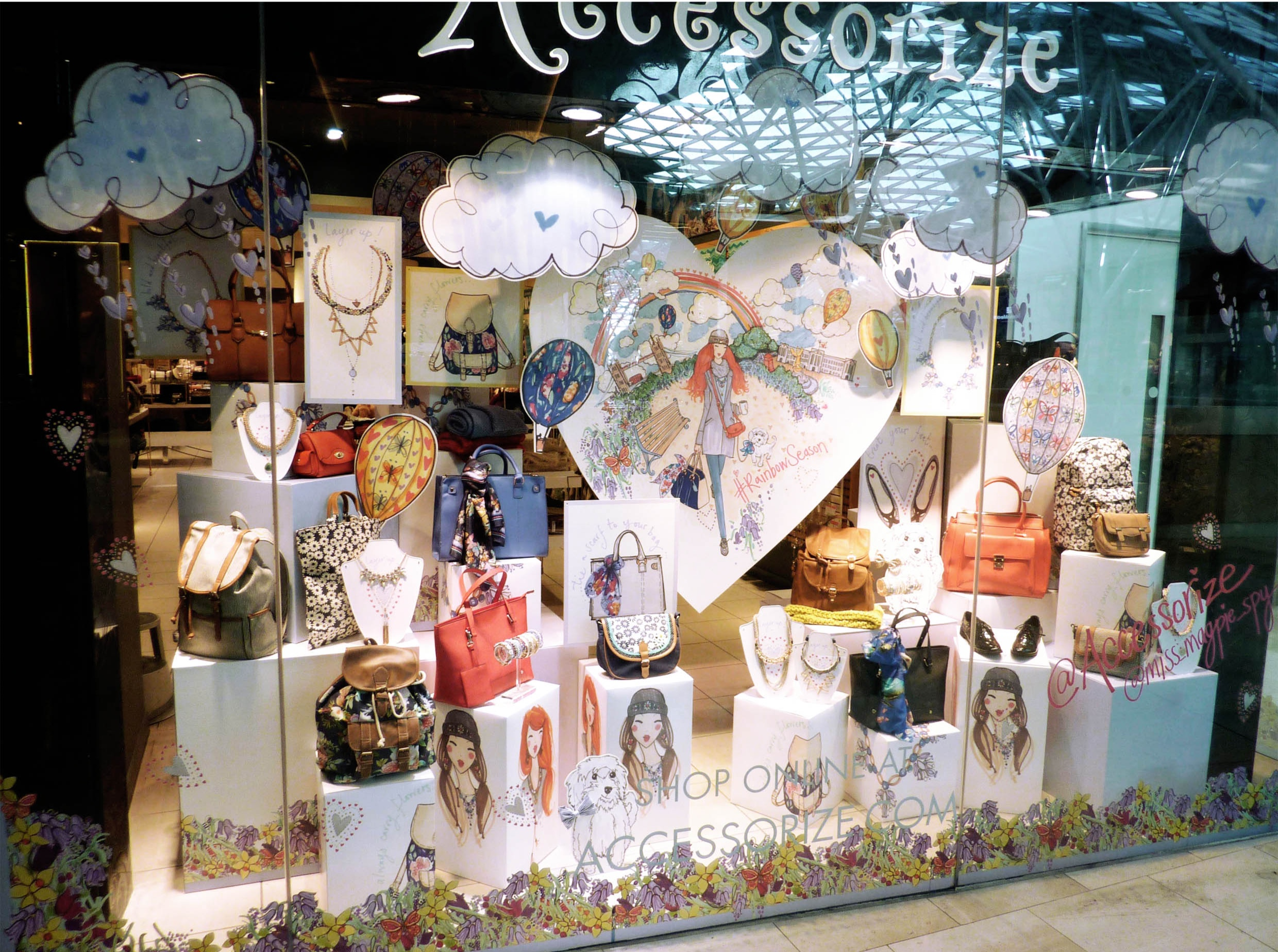 Accessorize Worldwide window display