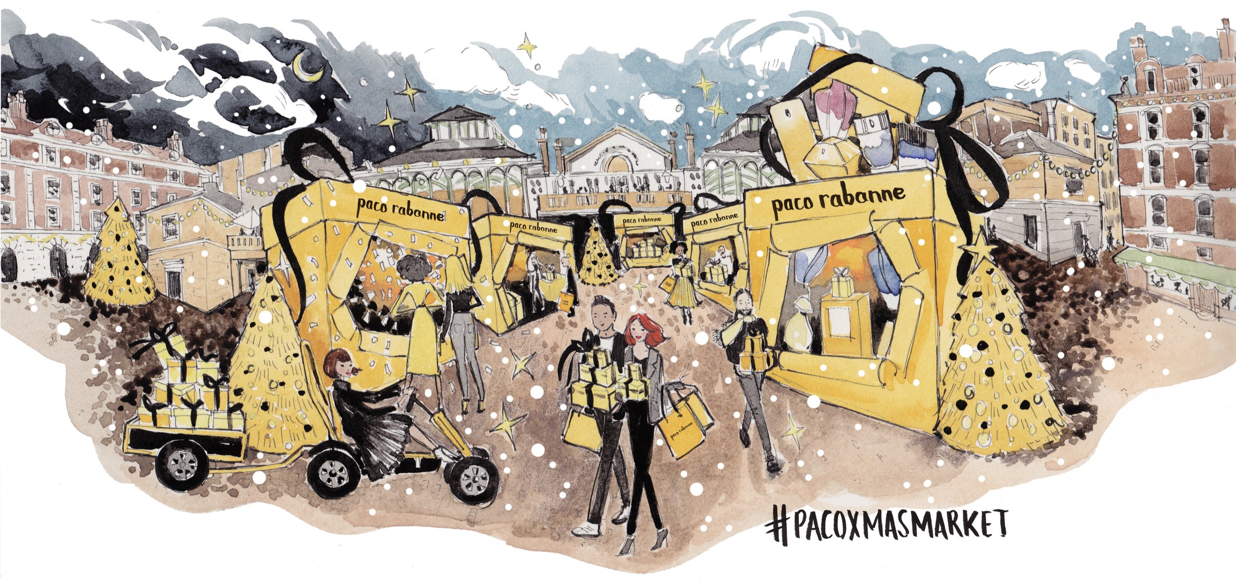 Commissioned by PUIG for Paco Rabanne Christmas Market Press Release