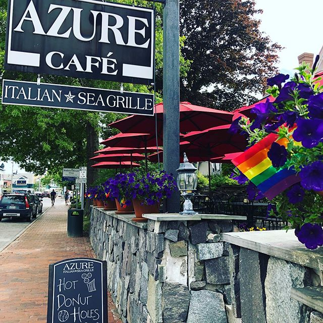 @visitfreeport tonight 5-9 for Azure Pride Day!  10% of the proceeds of Azure sales today will support EqualityMaine.  Dinner is 5-9pm.  Help us celebrate Pride month and support our friends, family & staff who still struggle for full equality.  #freeportmaine #pride #pridemaine #equalitymaine  Reservations: 207.865.1237 during business hours or requested online at azurecafe.com.