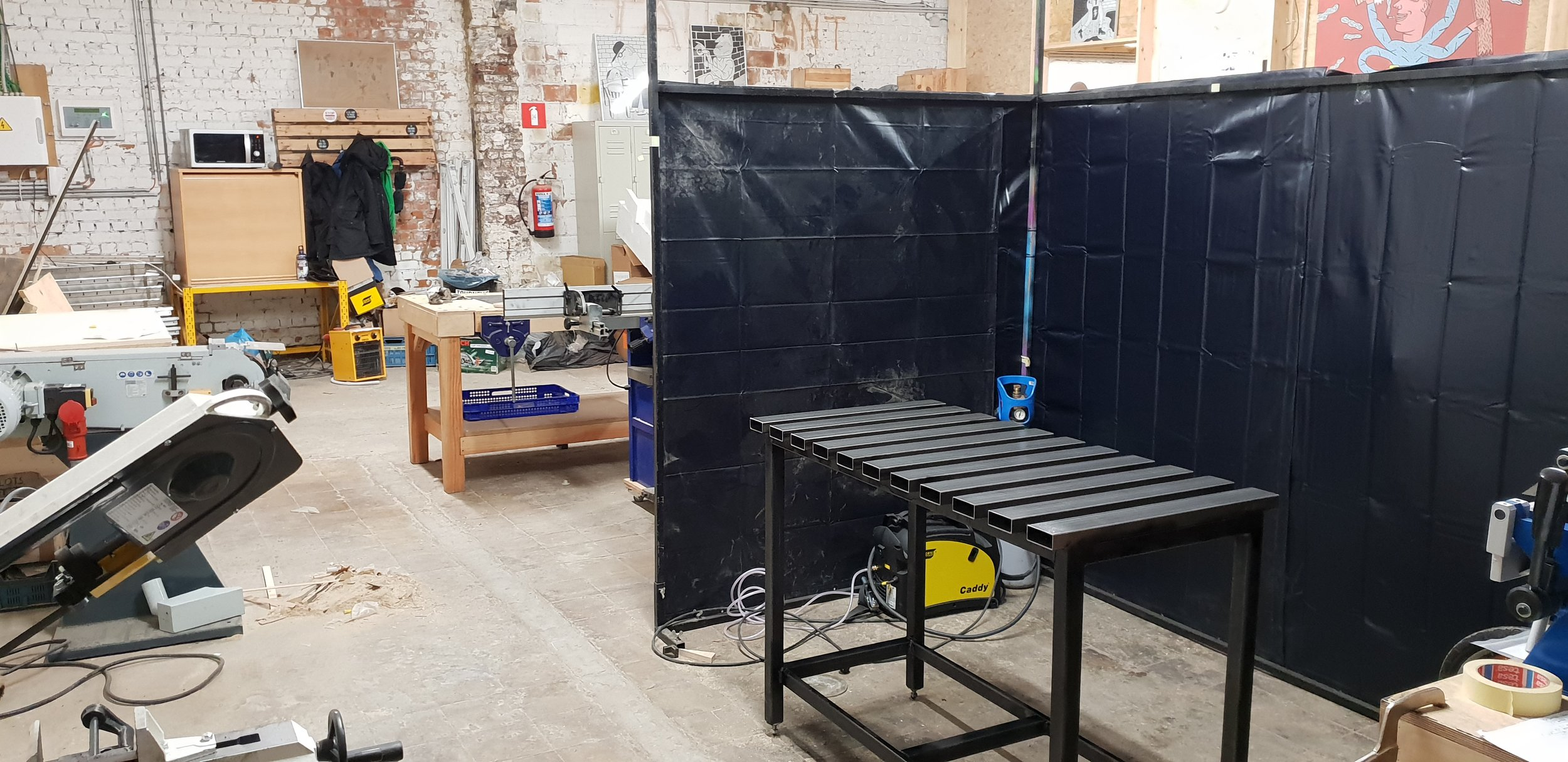 Setting up the welding workshop