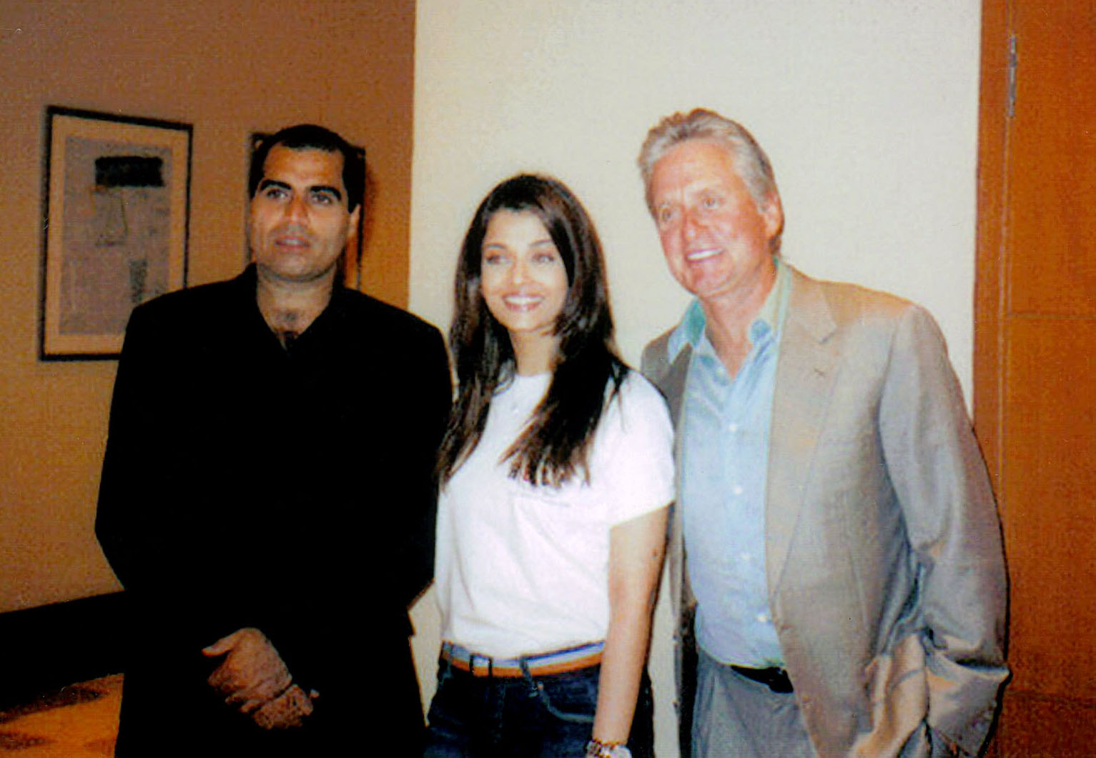 with Aishwarya Rai and Michael Douglas
