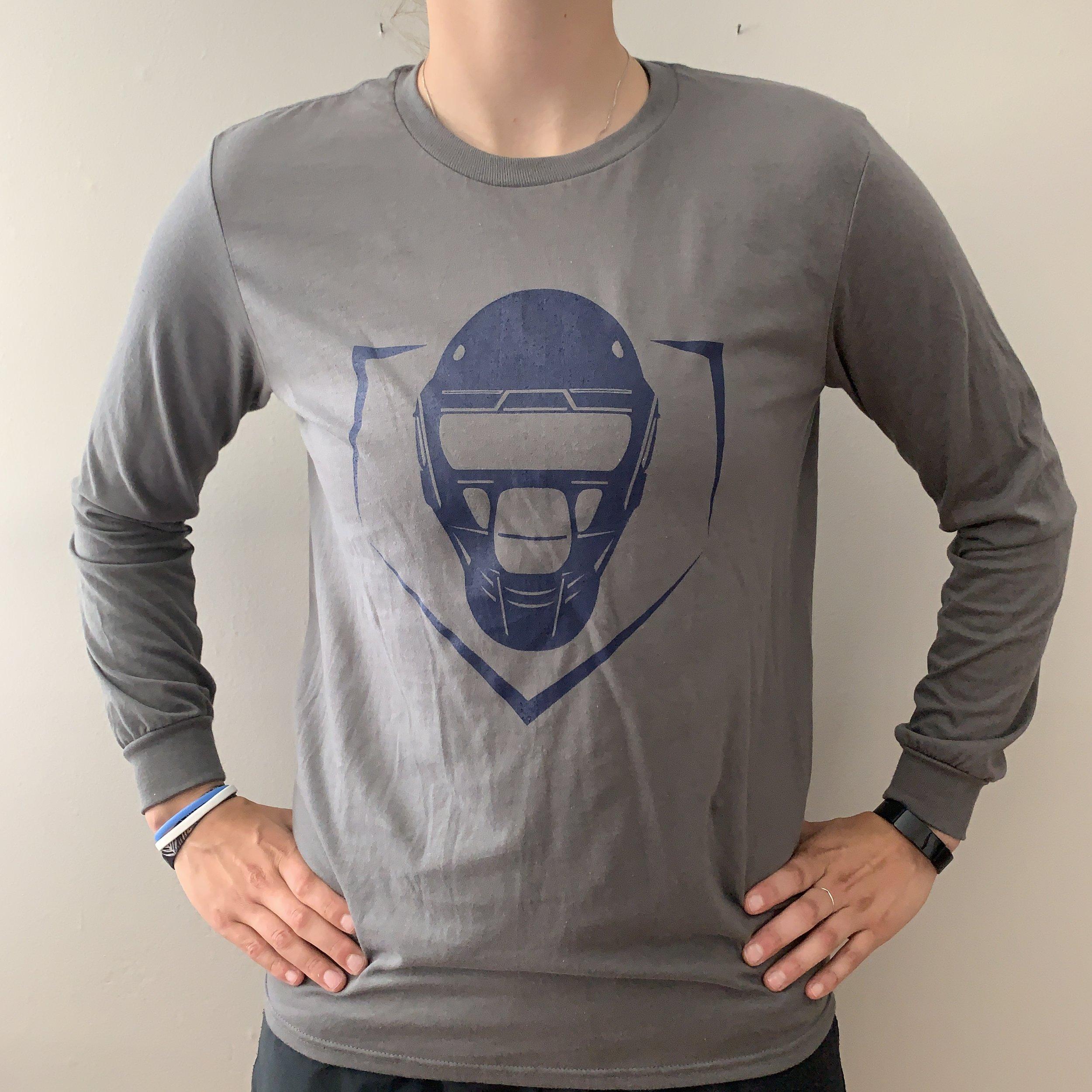 Plate Logo Long Sleeve T-Shirt – Graphite  $25