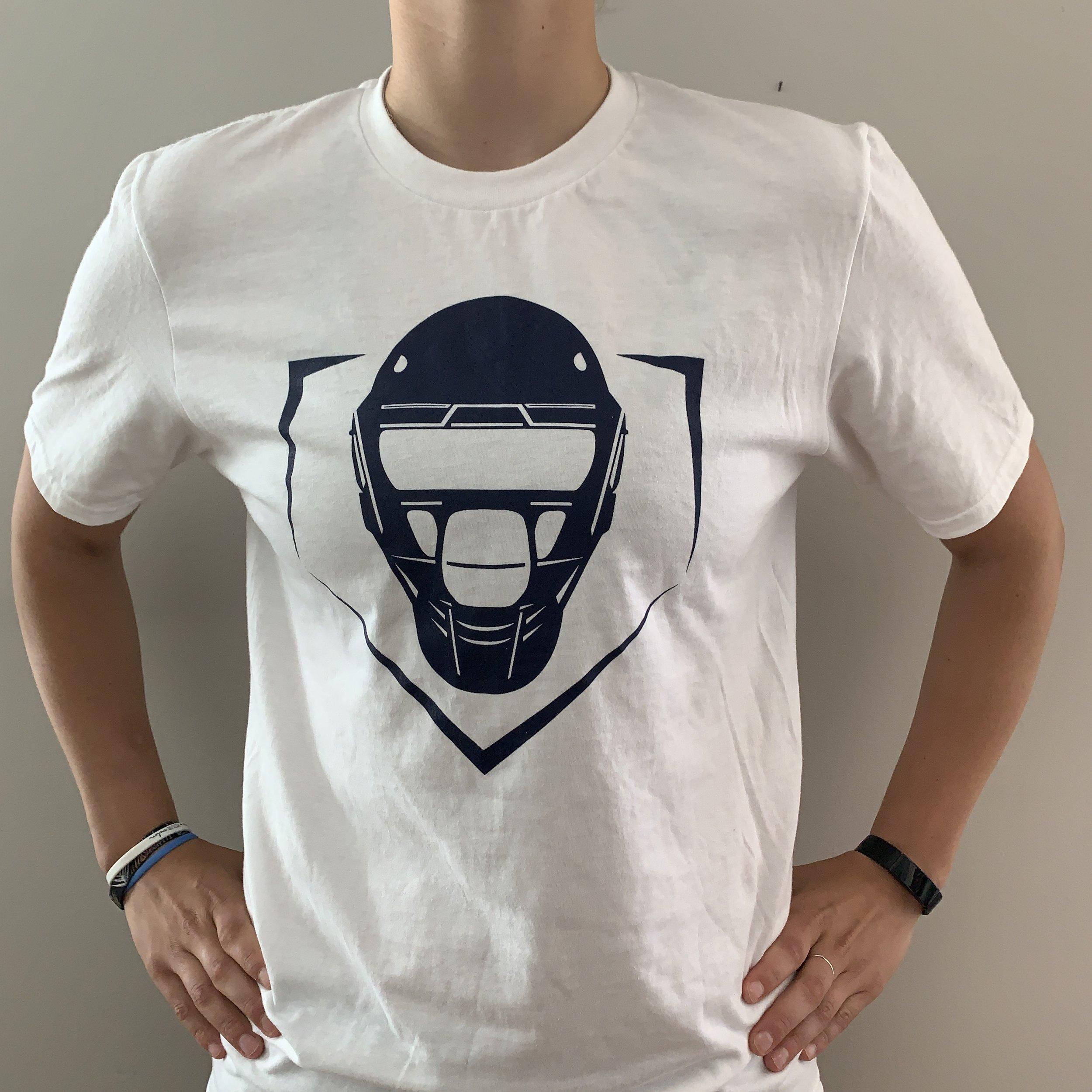 Plate Logo Cotton T-Shirt – White  $20