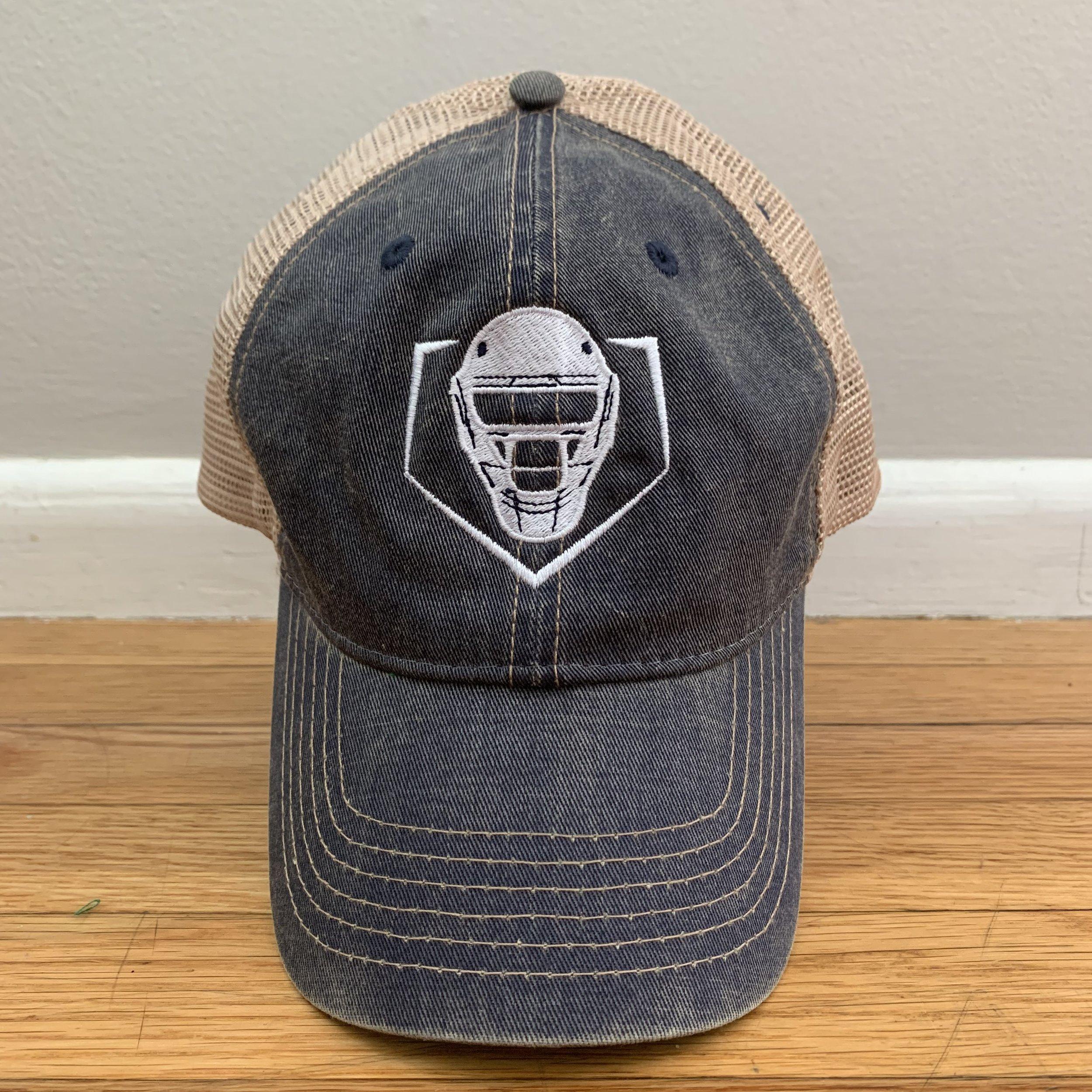 Trucker Mesh Hat w/ Snap Back – Navy/Ivory  $25