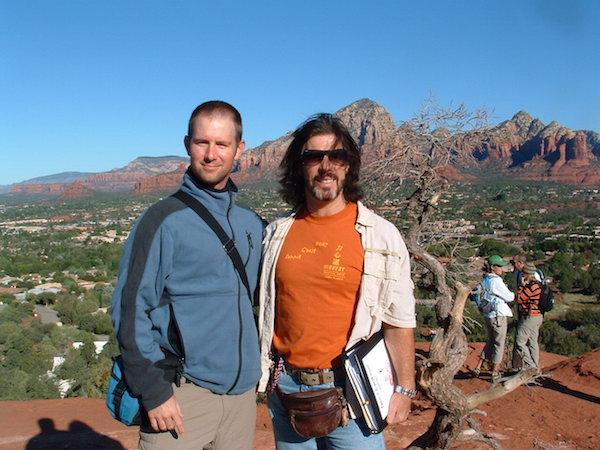 On retreat in Sedona, AZ Scott Akitoshi Bragg (Left) with his teacher Master Mark Sentoshi Russo (right)