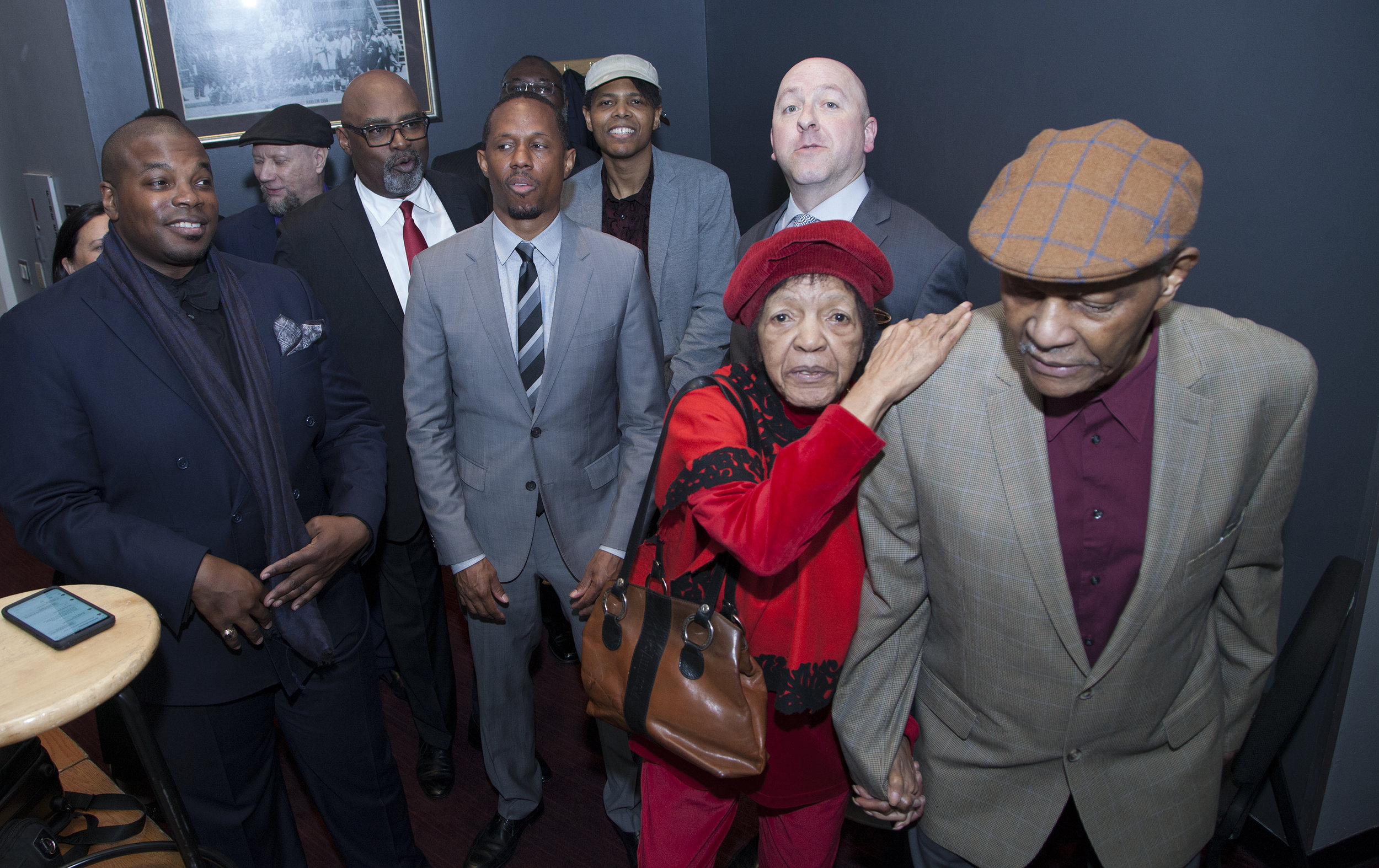 T he Band back stage @ Dizzy's Club Coca Cola with the Great McCoy Tyner & Wife Aisha & Son Deen