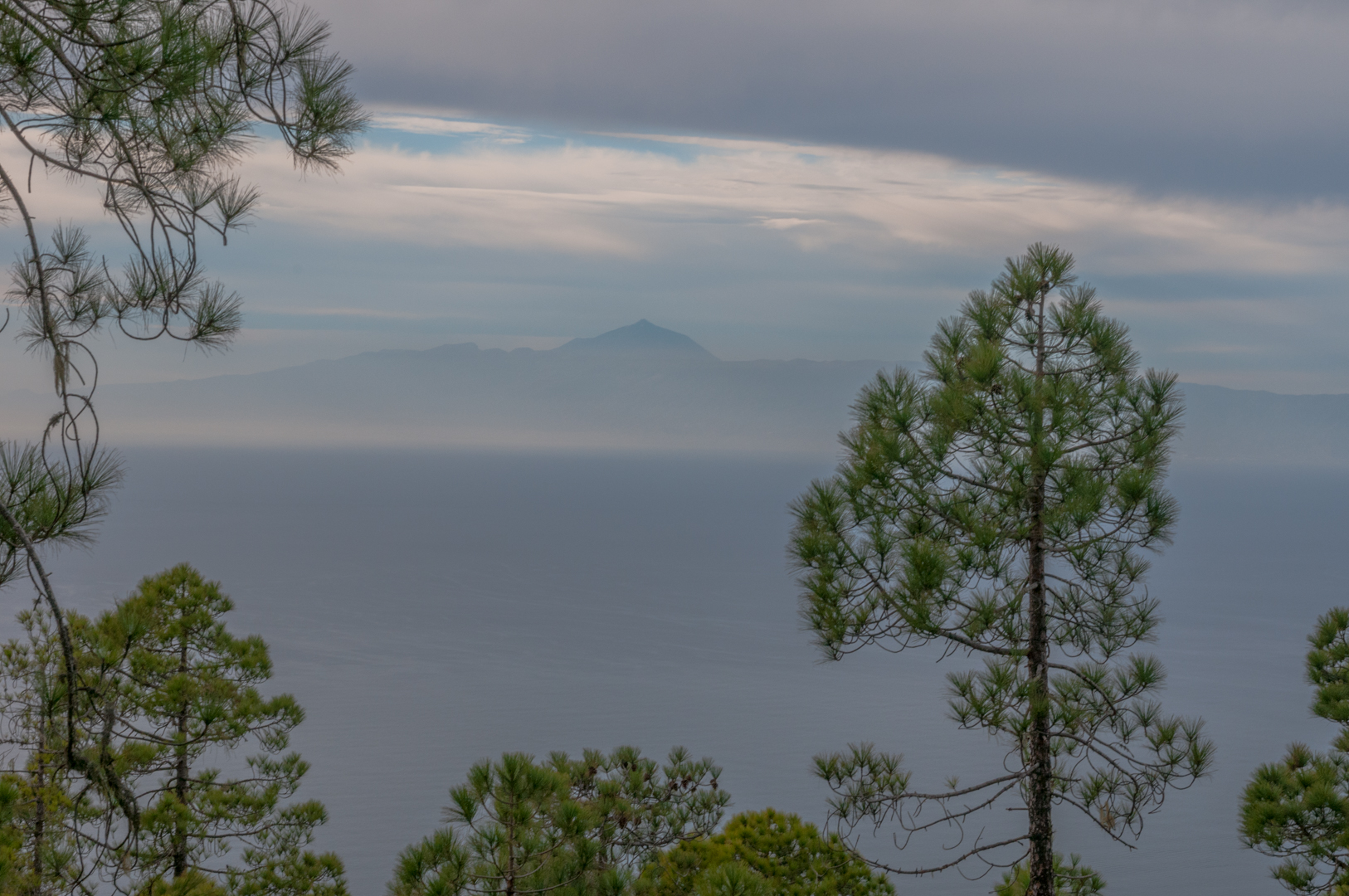 View on Tenerife from Gran Canaria