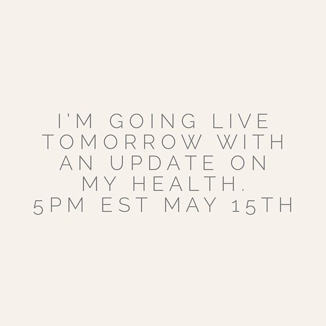 Thank you for the lovely messages asking if I am ok. Yes, I know I've been a bit quiet lately. ❤️ . . I will be live tomorrow at 5pm EST.