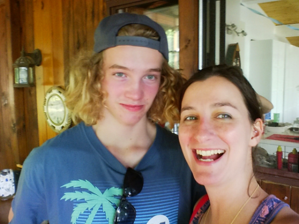 Me and my nephew, Ed the surfer boy!