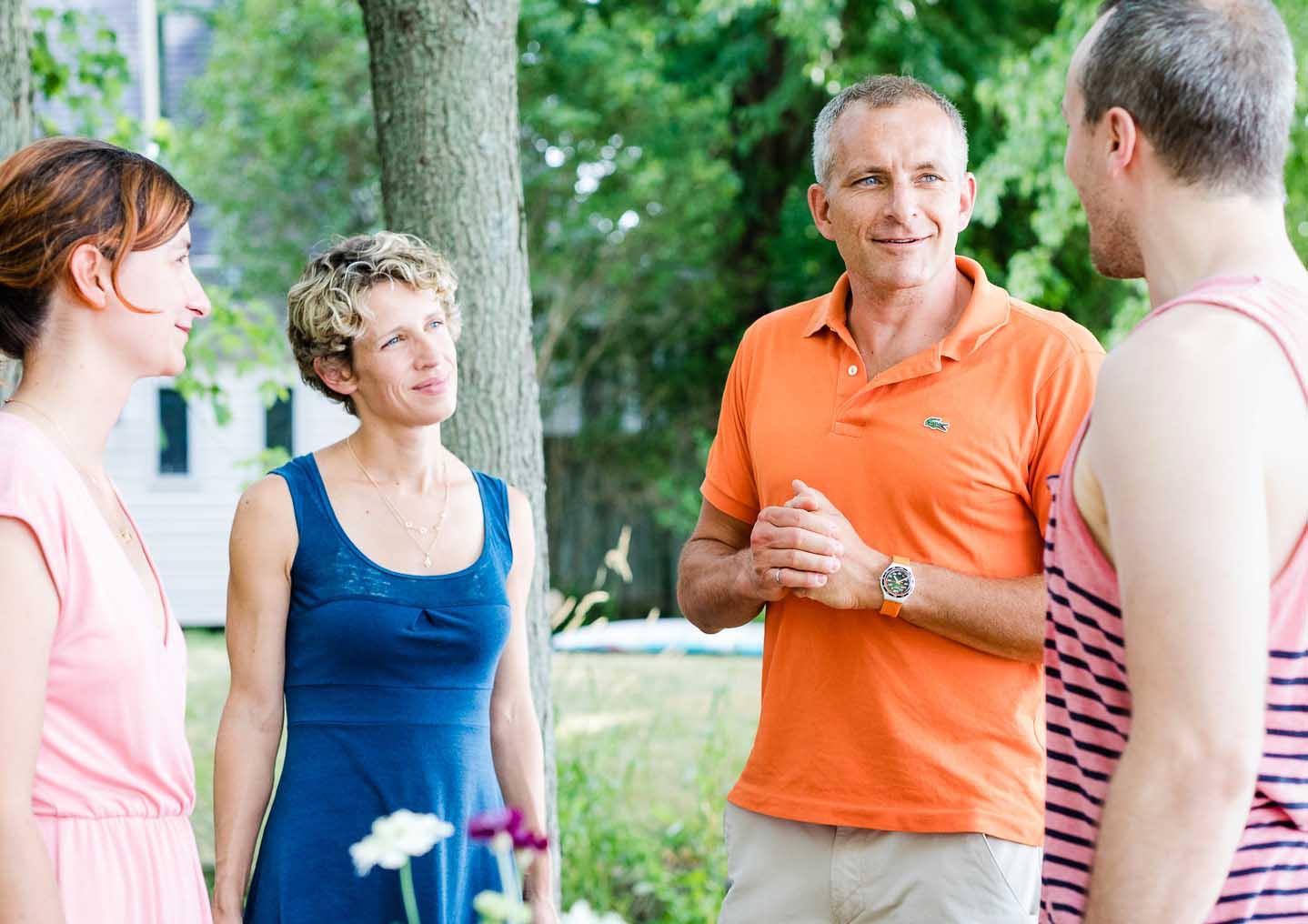Aux extrémités c'est nous! Marie-Pierre et Pierre-Mathieu, les co-fondateurs de THE WAY I AM.  Au centre: Véronique Morin et David St-Jacques