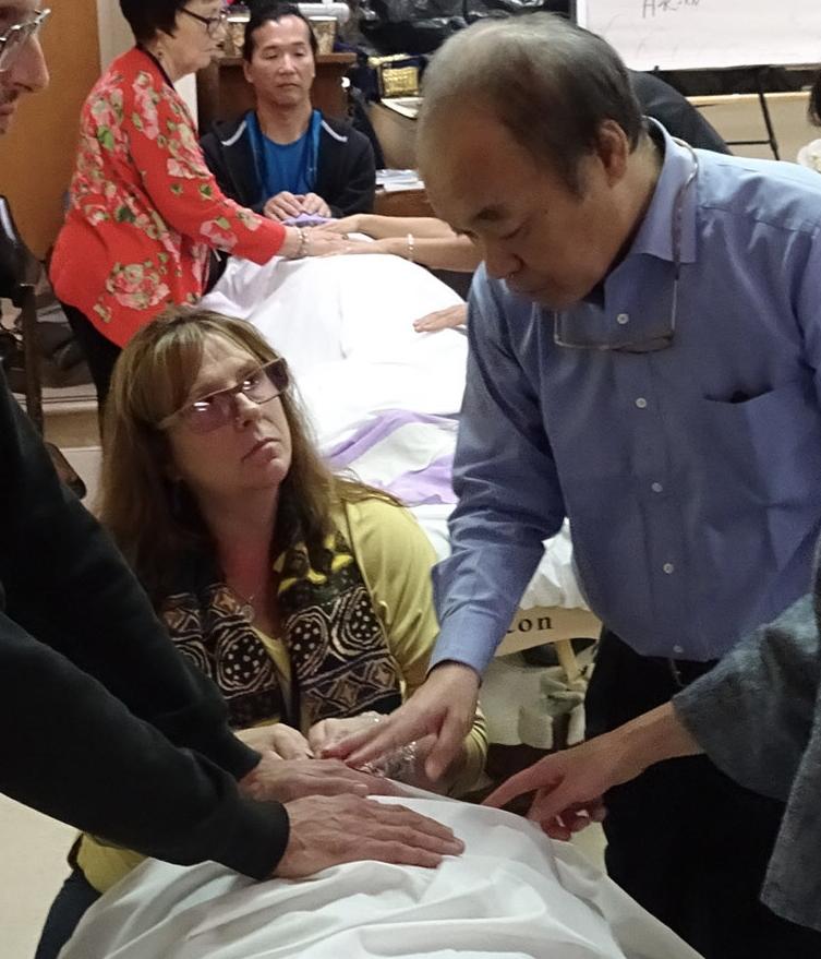 Tadao Sensei teaching Kausalya and others in San Francisco Nov 2018