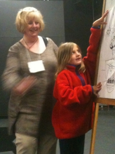 Drawing with a an enthusiastic young artist!