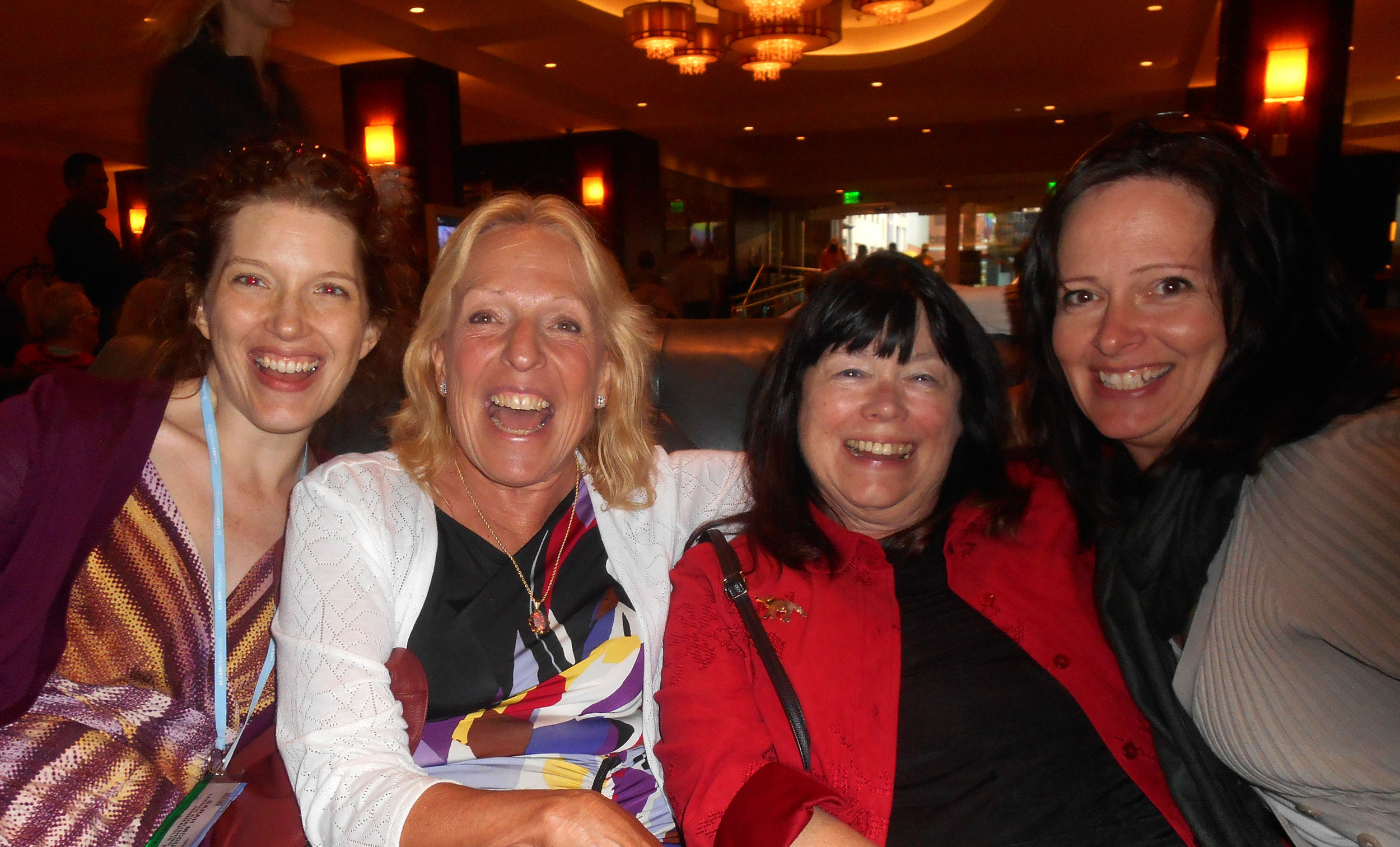 Sarah McGuire, Ellen Hopkins, Susan Hart Lindquist and Amy Allgeyer.