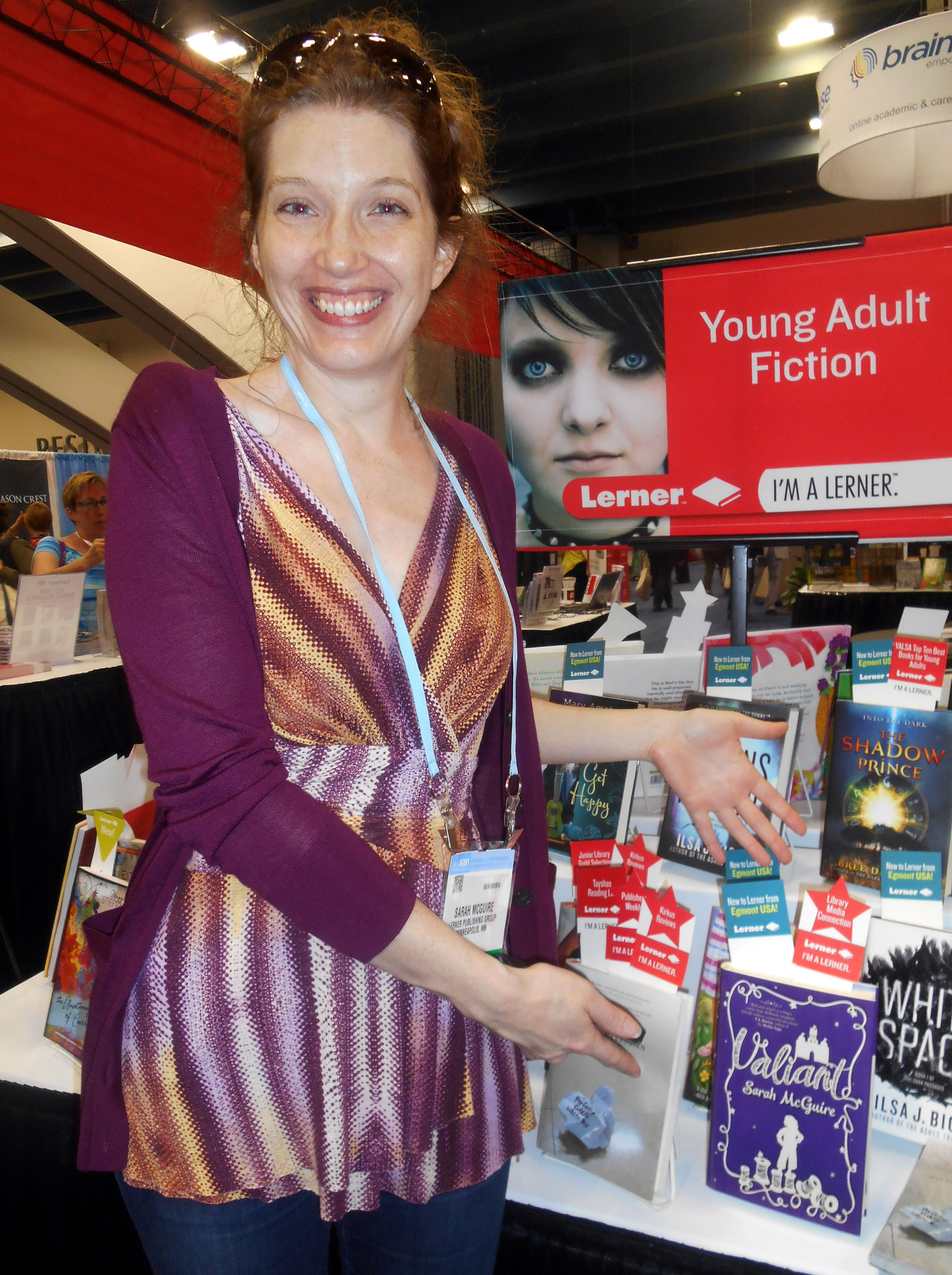 Sarah McGuire and her new book 'Valiant'.