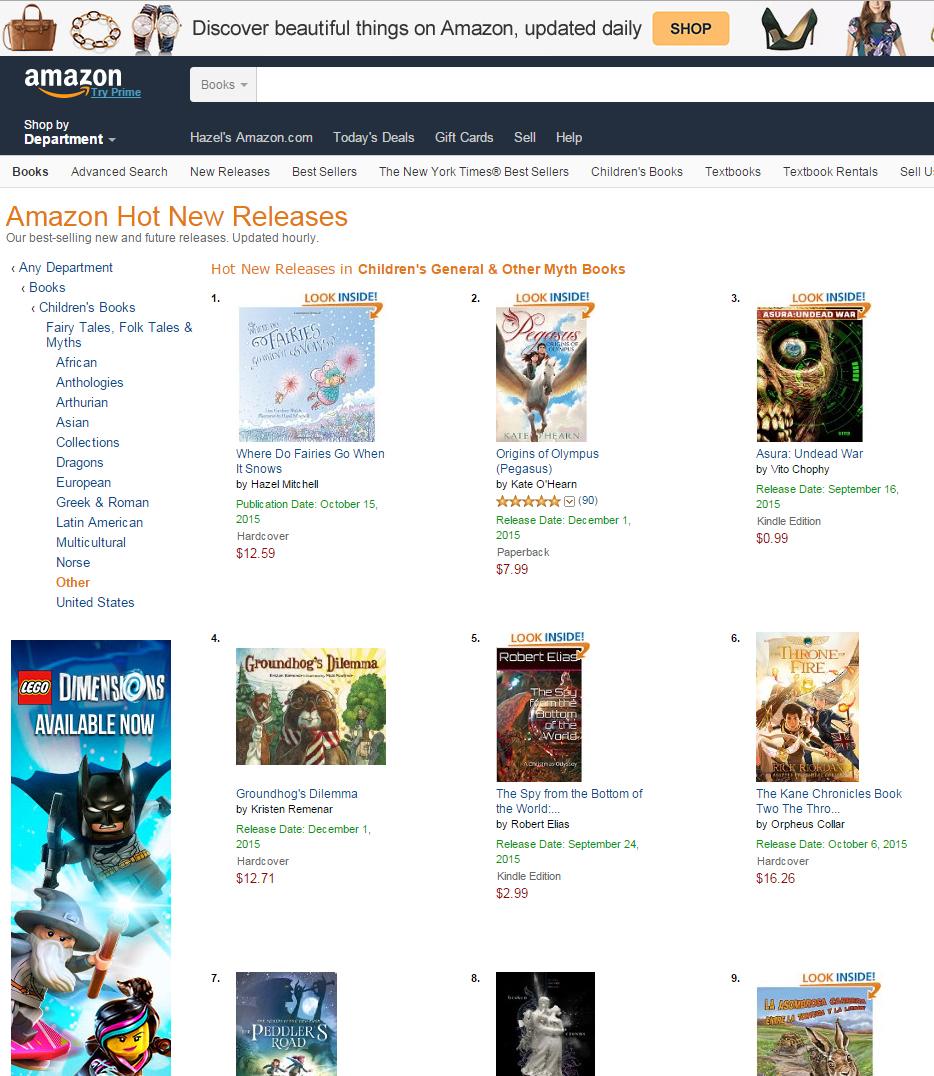 Hot new release on Amazon ...