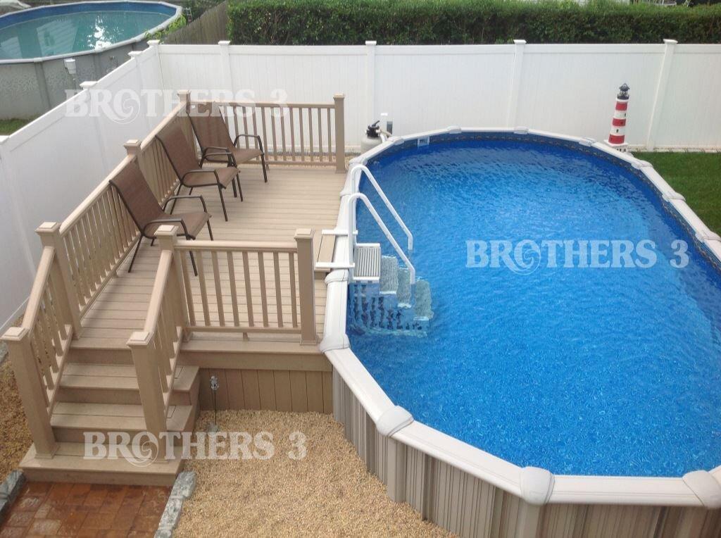 Semi Inground Pools Brothers 3 Pools