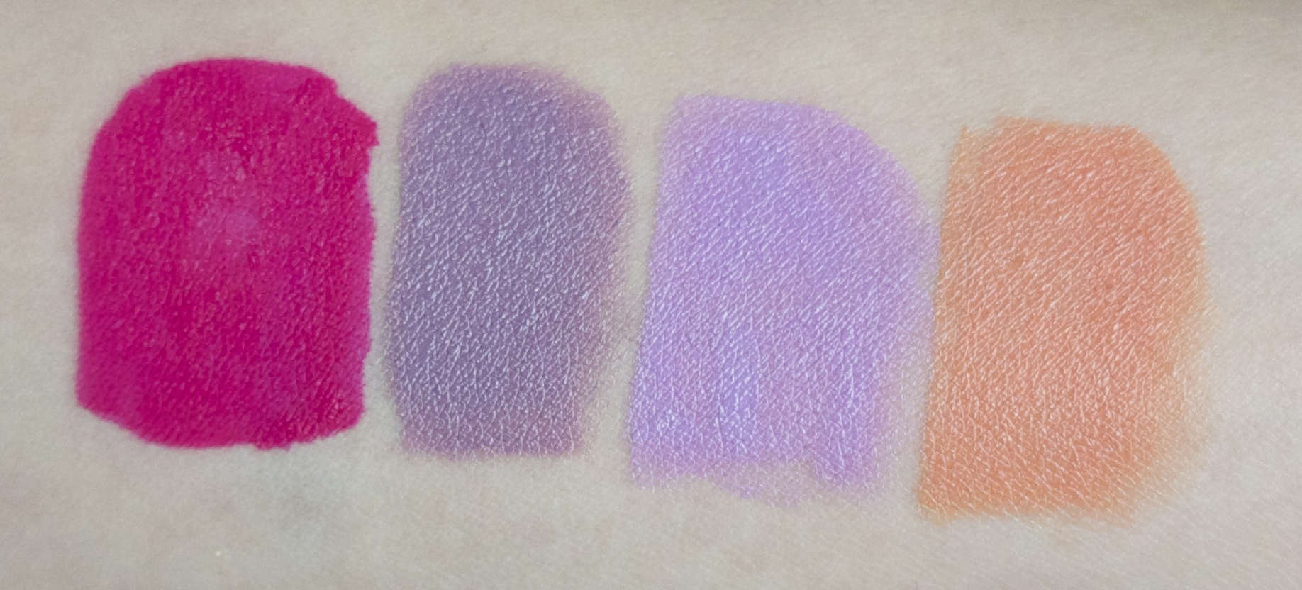 Lime Crime - Velvetine(Pink Velvet), Lipstick (Chinchilla), Lipstick (D'Lilac), Lipstick (Cosmopop)