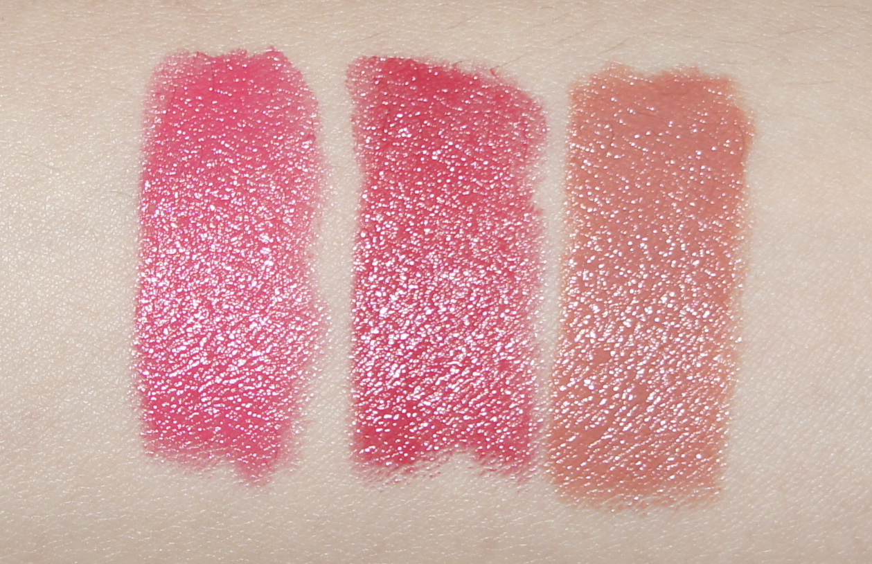 Sonia Kashuk Spring 2014 Collection - Satin Luxe Lip Colour (Parisian Pink, Pink Buff, Very Berry)