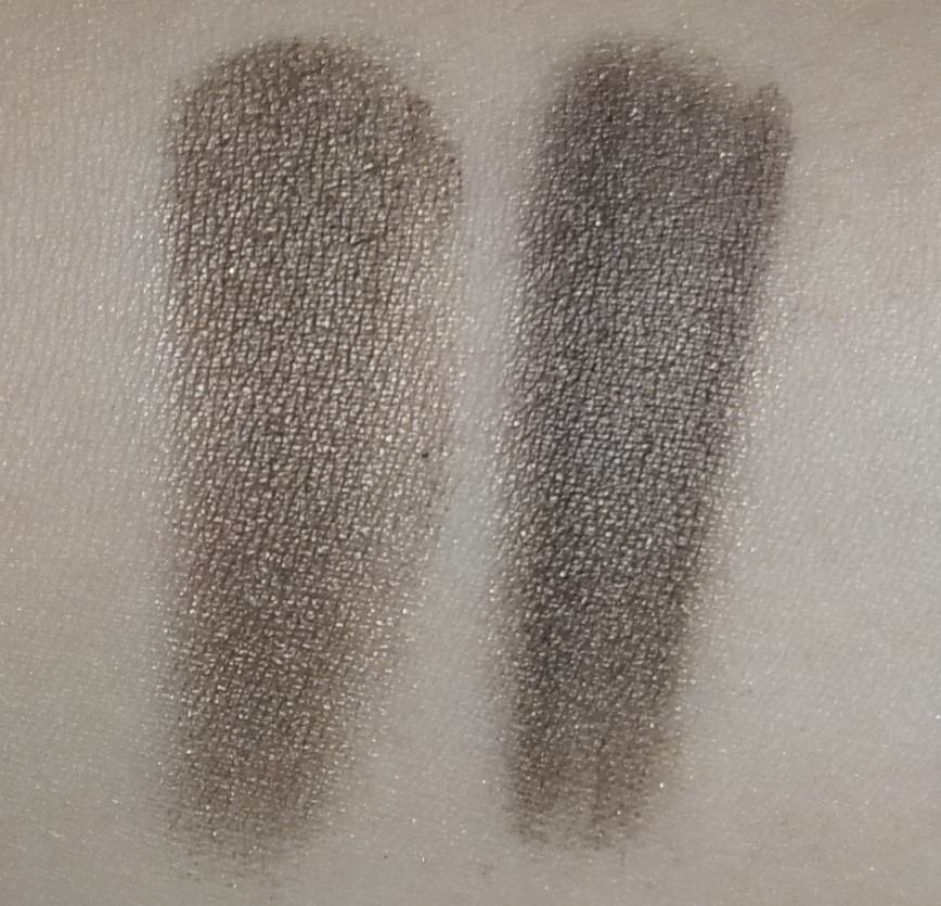 (LEFT) Sonia Kashuk - Eye Couture - Eye on Neutral Shimmer 3 (Eyeshadow #10)  (RIGHT) Urban Decay - NAKED Palette (Dark Horse)