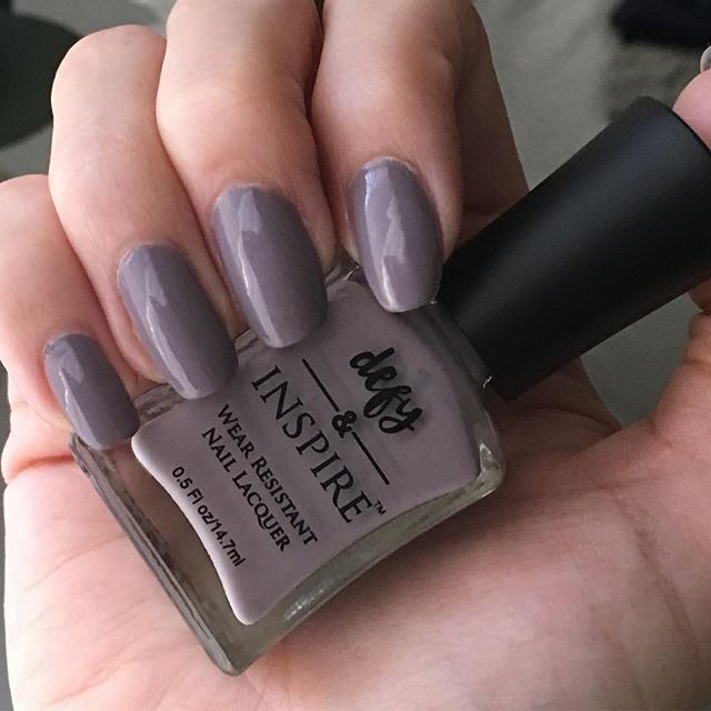 Love this new color from #defyandinspire #choppingblock exclusively @target #naturalnails #nailpolish