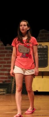 Sophia in rehearsal for West Side Story