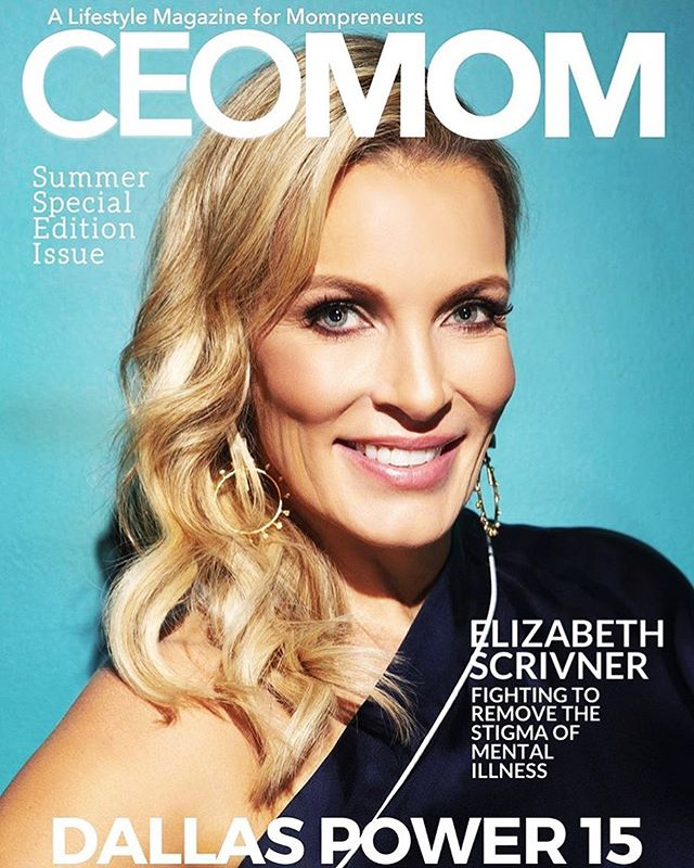 ⚡️New work on the cover of @ceomommag ⚡️ Featuring America's Therapist @elizabeth_scrivner . Photo: @kellywphoto . Glam by yours truly  Clothing by @shoptootsies