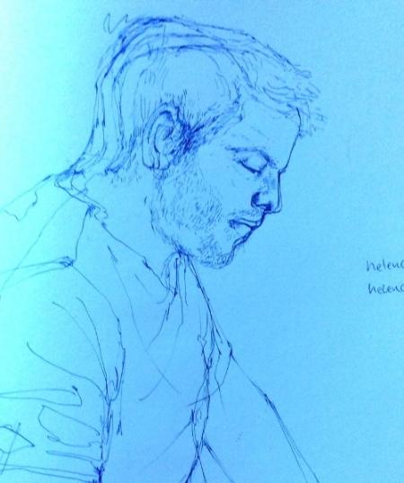Portrait of me (Chris) by Helen Cann