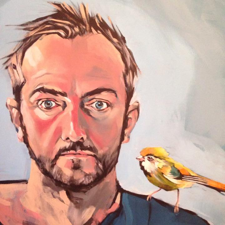 Self Portrait with Bird