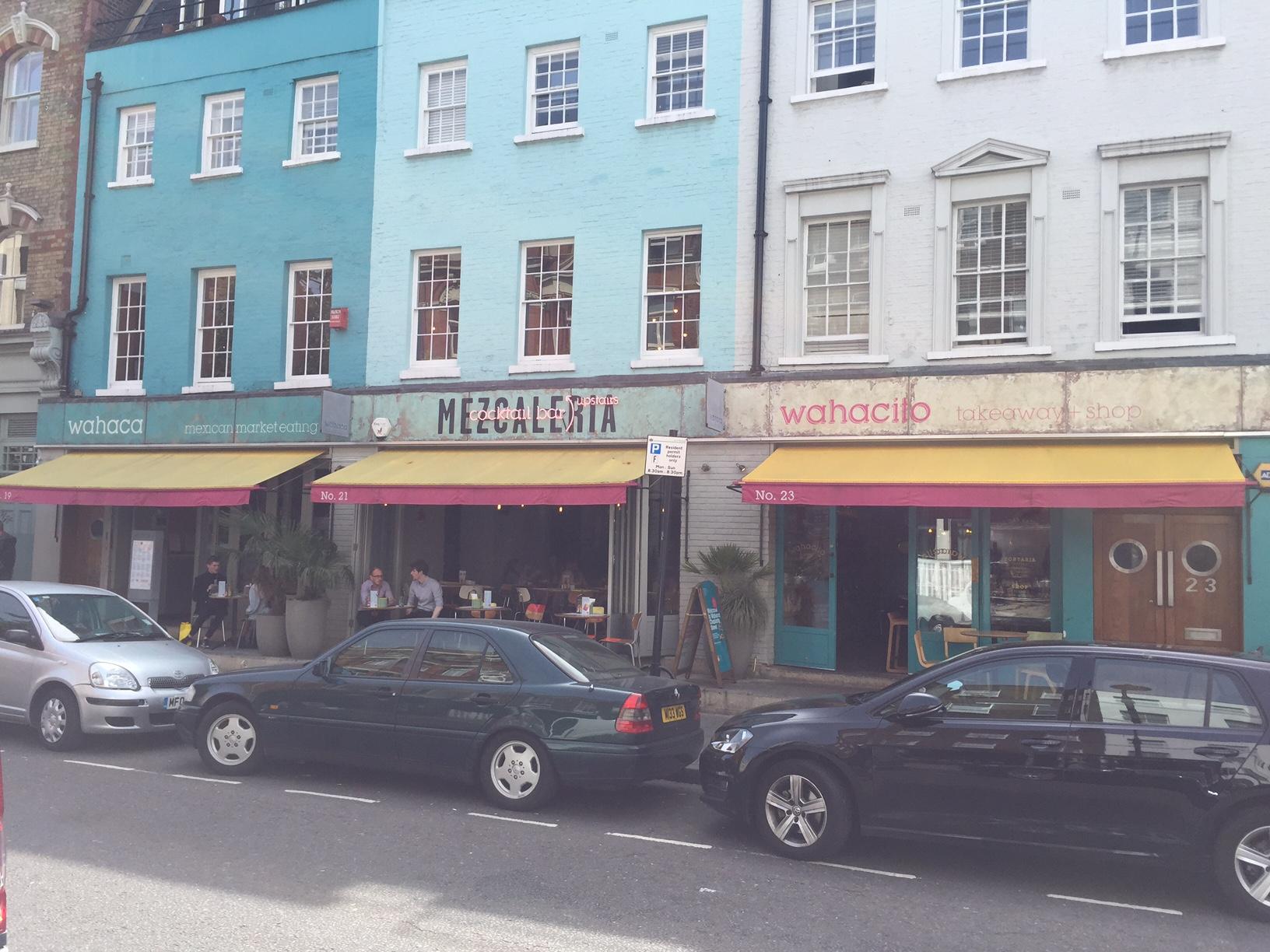 Wahaca, Charlotte Street in London.