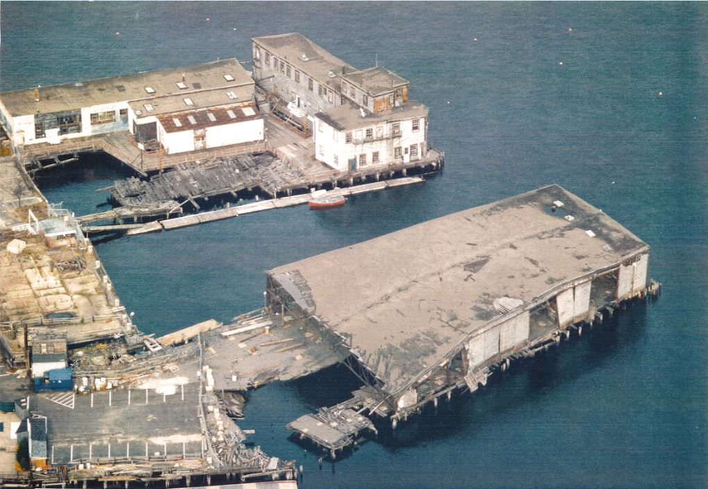 Lewis Wharf, late 1980s, from Gunwyn Filing