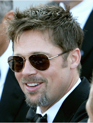 brad pitt wearing glasses