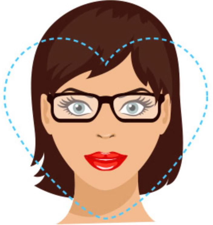 heart face shape glasses