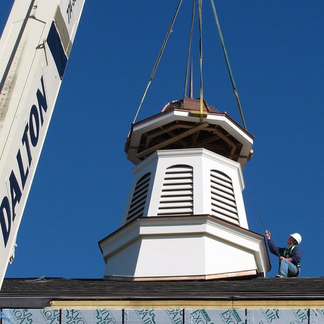 It's almost been 5 years since our completion of the Mashpee Public Library in Mashpee, MA. #construction #cupola #library #education #mashpee