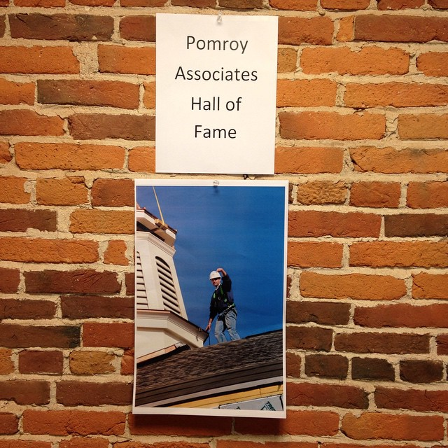 OPM Taylor hung this on our wall. The sad part? It wasn't an April Fool's Day joke! #office #pranks #projectmanager #halloffame