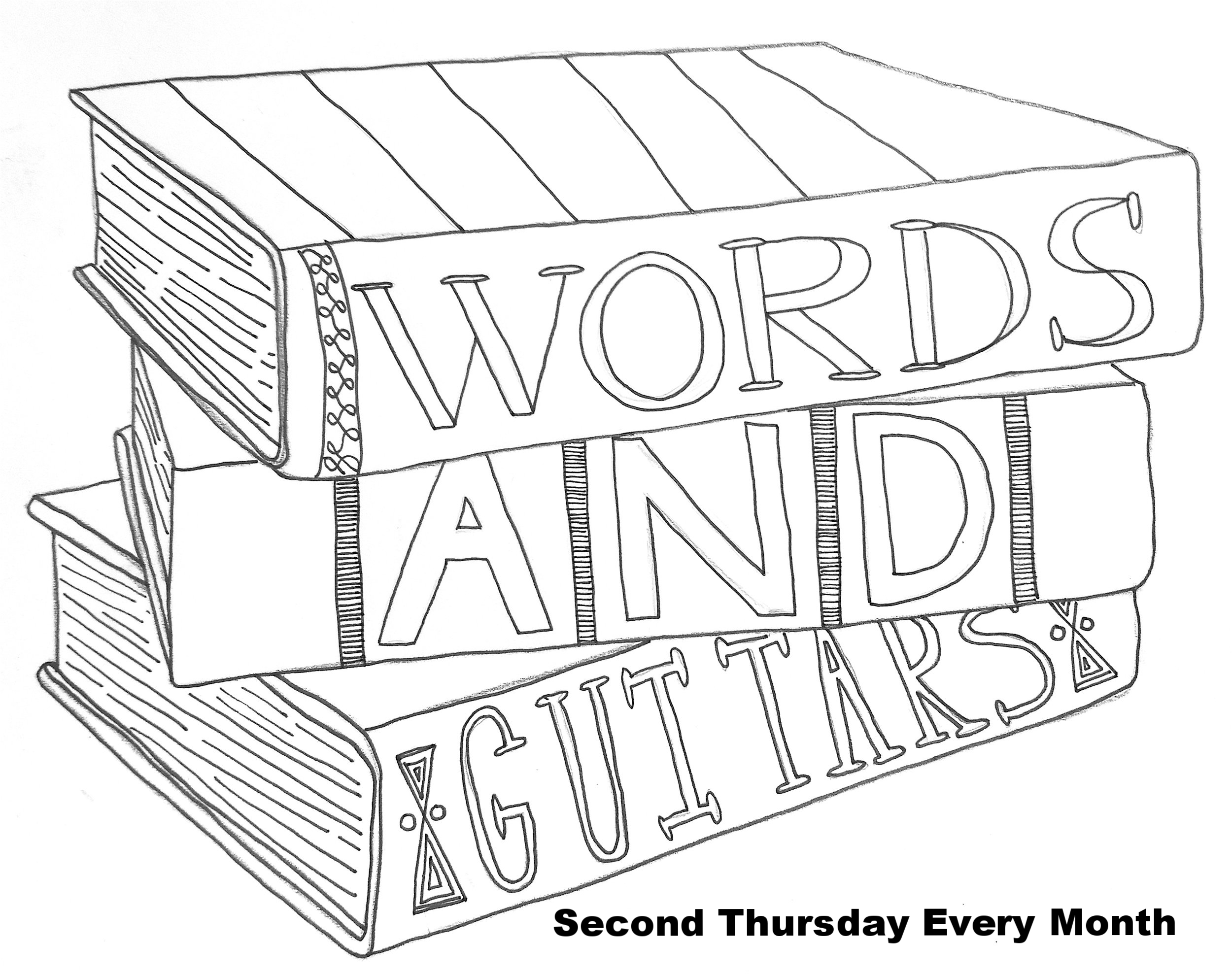 Words and Guitars Logo BW .jpg
