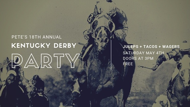 OMG! Derby Day is almost here 🤩🌈🐴🌹🌹🌹🌹. Saturday, May 4th, 3pm - 7:30pm! #kentuckyderby #derbyparty #mintjulep #derbytacos