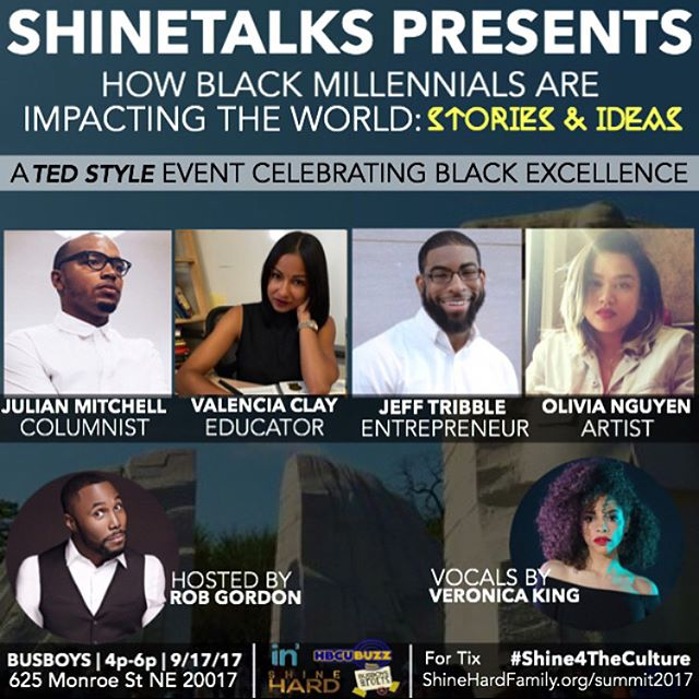 See you tmrrw fam ✌🏽✨ — If you're passionate about innovative ideas and shifting culture, join us at #SHINETalks Sept 17th 🗓 we're celebrating black excellence! ✊🏾💎✨ #ShineHardSummit — Repost from @shinehardfam #SHINETalks™ presents @iamveronicaking ✨, Singer/Recording Artist! — On Sunday 17th, Veronica will inspire us with vocals from her recent EP and more! — 🎟: ShineHardFamily.org/summit-tickets/shinetalks — ❗️[NO TIX WILL BE SOLD AT THE DOOR] All proceeds go towards the advancement of our movement and community.
