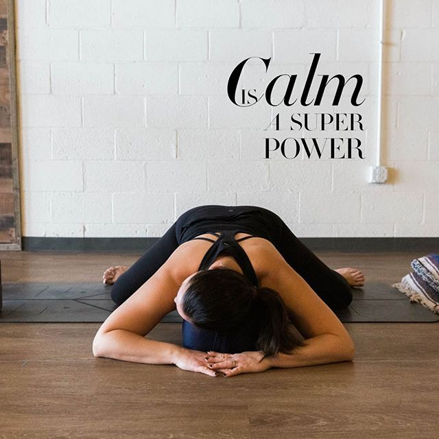 :::calm is a super power::: ⠀ Yin creates calm. Calm in your nervous system, calm in your mind, calm in your connective tissues. Come practice calm with me tonight at @clevelandyoga Westlake for Yin at a brand new time, 7:45pm! If you're craving power yoga and yin yoga, take @awaketomysoul at 6:30 and stay for Yin! Our classes are complete opposite sides of the yoga spectrum and are a perfect compliment to each other. 📸@brittanygrahamphotography