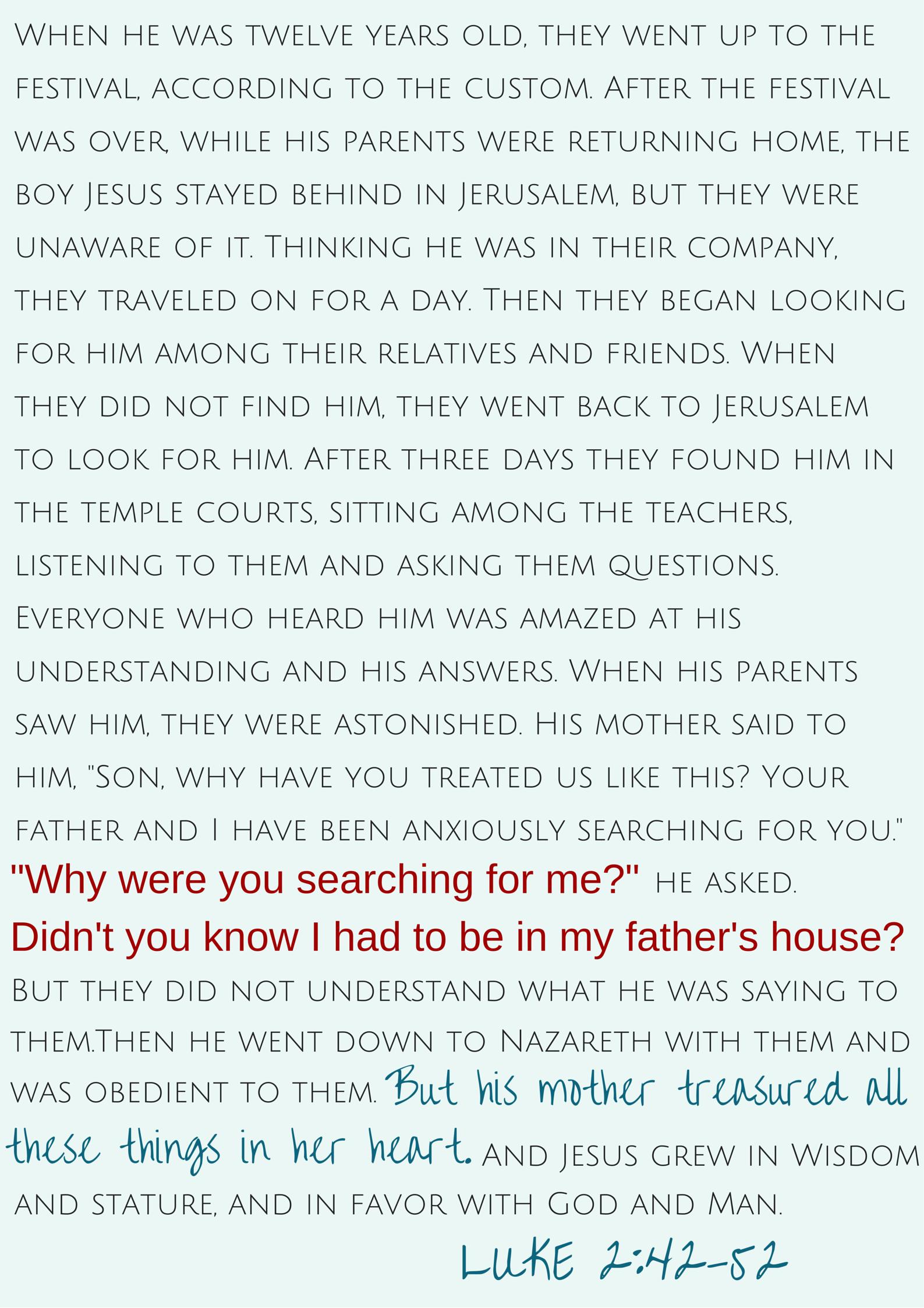LUKE 2:42-52 | momming is hard