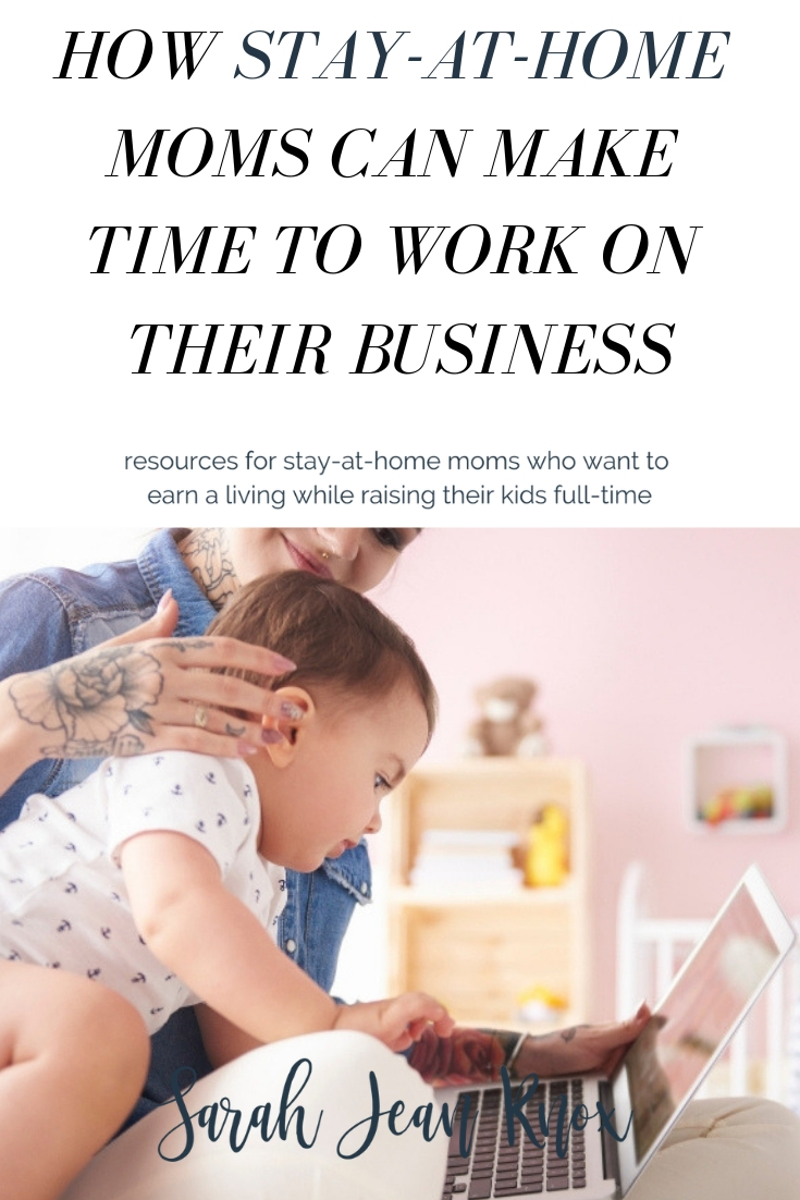 How moms can find time to work on their business and 5 surprising places to bring your kids to you can work   Sarah Jean Knox creates resources for stay at home moms who want to build a business and earn an income while raising their kids fulltime.