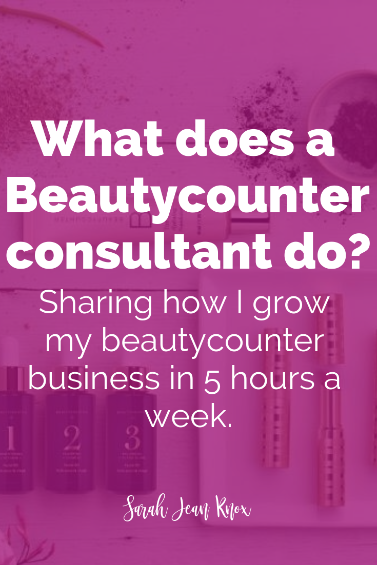 What does a Beautycounter Consultant do?