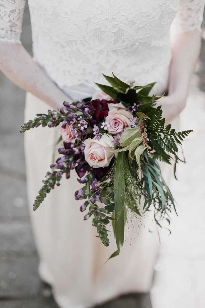 Detail of bridal bouquet